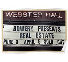 Webster Hall billboard in NYC Poster