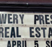 Webster Hall billboard in NYC Sticker