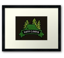 Camping makes me happy. Framed Print