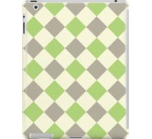 Green Brown Yellow Argyle iPad Case/Skin