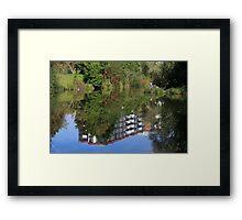 Fisherman On The Riverbank Framed Print