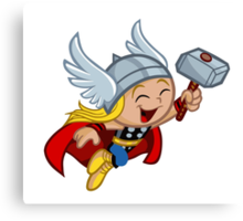Funny Thor Canvas Print