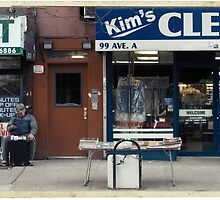 Kim's Cleaning, Avenue A, NYC - Kodachrome Postcard by Reinvention