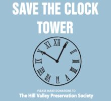 Save the Clock Tower (Back to the Future Print) One Piece - Short Sleeve
