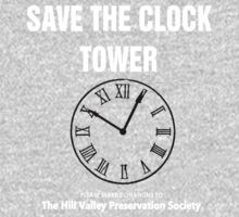 Save the Clock Tower (Back to the Future Print) Kids Clothes