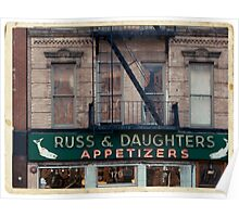 Russ & Daughters Appetizers in the Lower East Side - Kodachrome Postcard Poster
