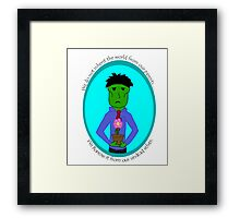 The Green Zombie: Borrow the Earth Framed Print