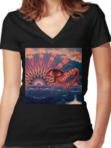 Plyro Women's Fitted V-Neck T-Shirt