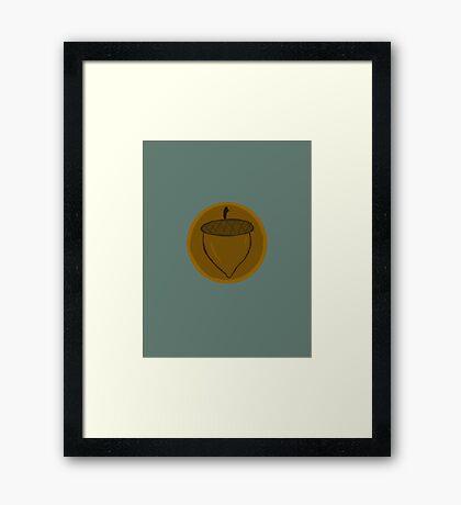 The Hobbit- Bronze Acorn Button Framed Print