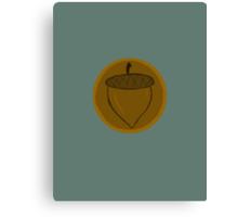 The Hobbit- Bronze Acorn Button Canvas Print