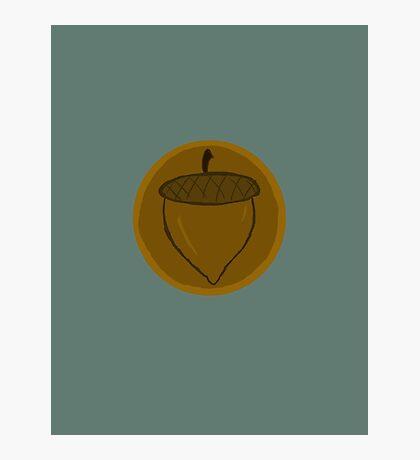 The Hobbit- Bronze Acorn Button Photographic Print