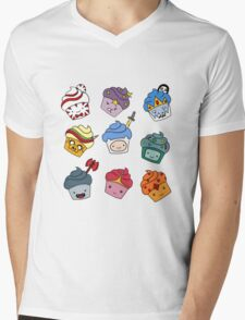 Adventurous Cupcakes Mens V-Neck T-Shirt