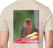 RAINBOW COLORED ANNA'S ON PERCH Unisex T-Shirt