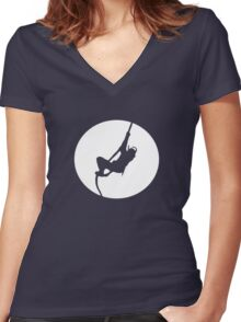 Ninja - Stealth = FAIL Women's Fitted V-Neck T-Shirt