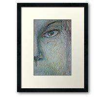 Faces - Close up 1 - Portrait In Black And White Framed Print