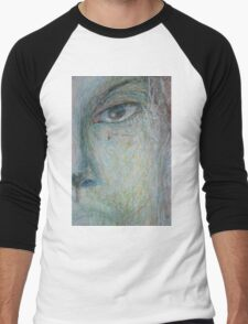 Faces - Close up 1 - Portrait In Black And White Men's Baseball ¾ T-Shirt