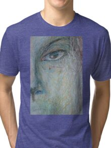 Faces - Close up 1 - Portrait In Black And White Tri-blend T-Shirt