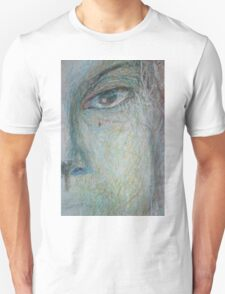 Faces - Close up 1 - Portrait In Black And White T-Shirt