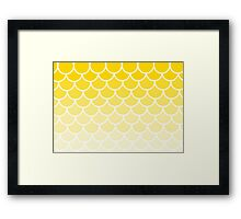 Ombre Fish Scales In Lemon Framed Print