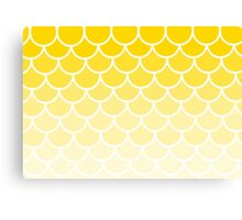 Ombre Fish Scales In Lemon Canvas Print