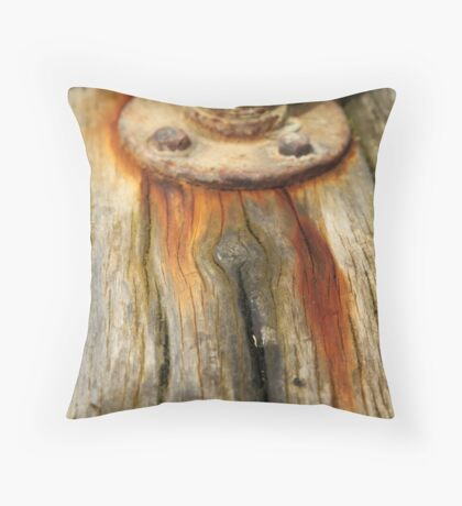 Stains of Rust Throw Pillow