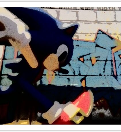 Sonic in the streets Sticker