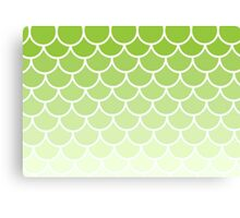 Ombre Fish Scale In Lime Canvas Print