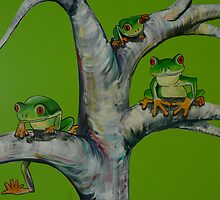 Frog Mural Detail by Jacqui Coote