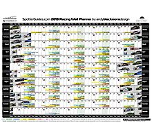 2015 Racing Wall Planner Photographic Print