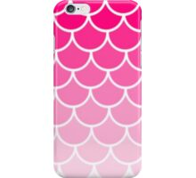 Ombre Fish Scale In Strawberry iPhone Case/Skin
