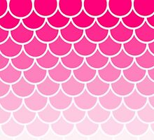 Ombre Fish Scale In Strawberry by Misty Lemons