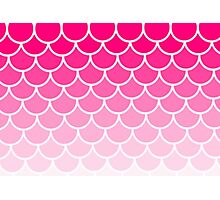 Ombre Fish Scale In Strawberry Photographic Print
