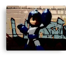 Mega man in the streets Canvas Print