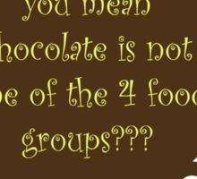 for those not fed up with chocolate ... Sticker