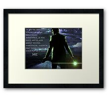 Doctor Who Trap Framed Print