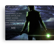 Doctor Who Trap Canvas Print