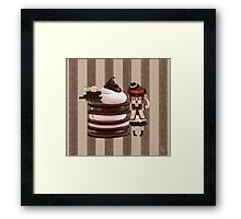 Chocolate Nerd Framed Print