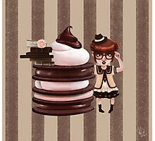 Chocolate Nerd Photographic Print