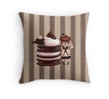 Chocolate Nerd Throw Pillow