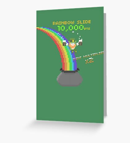 8-Bit Leprechaun Greeting Card