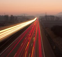 Driving to the Sunrise by Duncan Payne