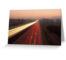 Driving to the Sunrise Greeting Card