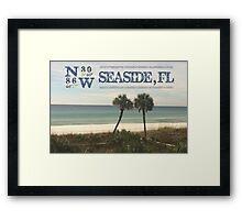 Seaside, FL latitude and longitude Framed Print