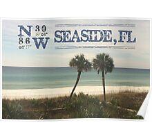 Seaside, FL latitude and longitude Poster