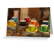 Multi-Coloured Espresso Greeting Card
