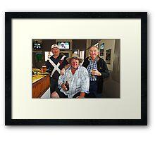 Bobby O'Brien, Nobby McMahon & Kevin Slater Framed Print