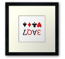 LOVE playing cards Framed Print