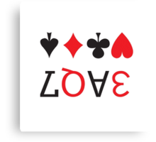 LOVE playing cards Canvas Print