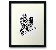 Zentangle Bird Framed Print