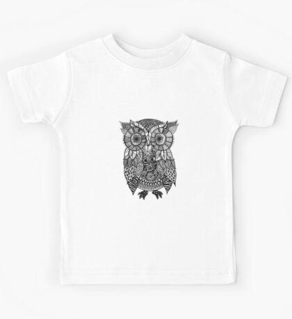 Zentangle Owl Kids Tee
